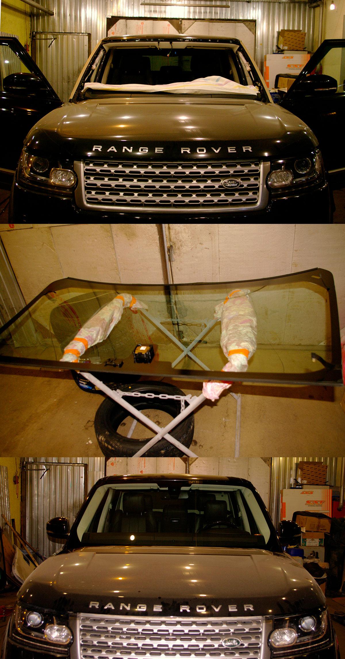 Range Rover замена лобового стекла, ремонт, Москва, Новопеределкино